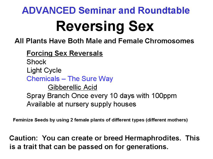 Reversing Sex
